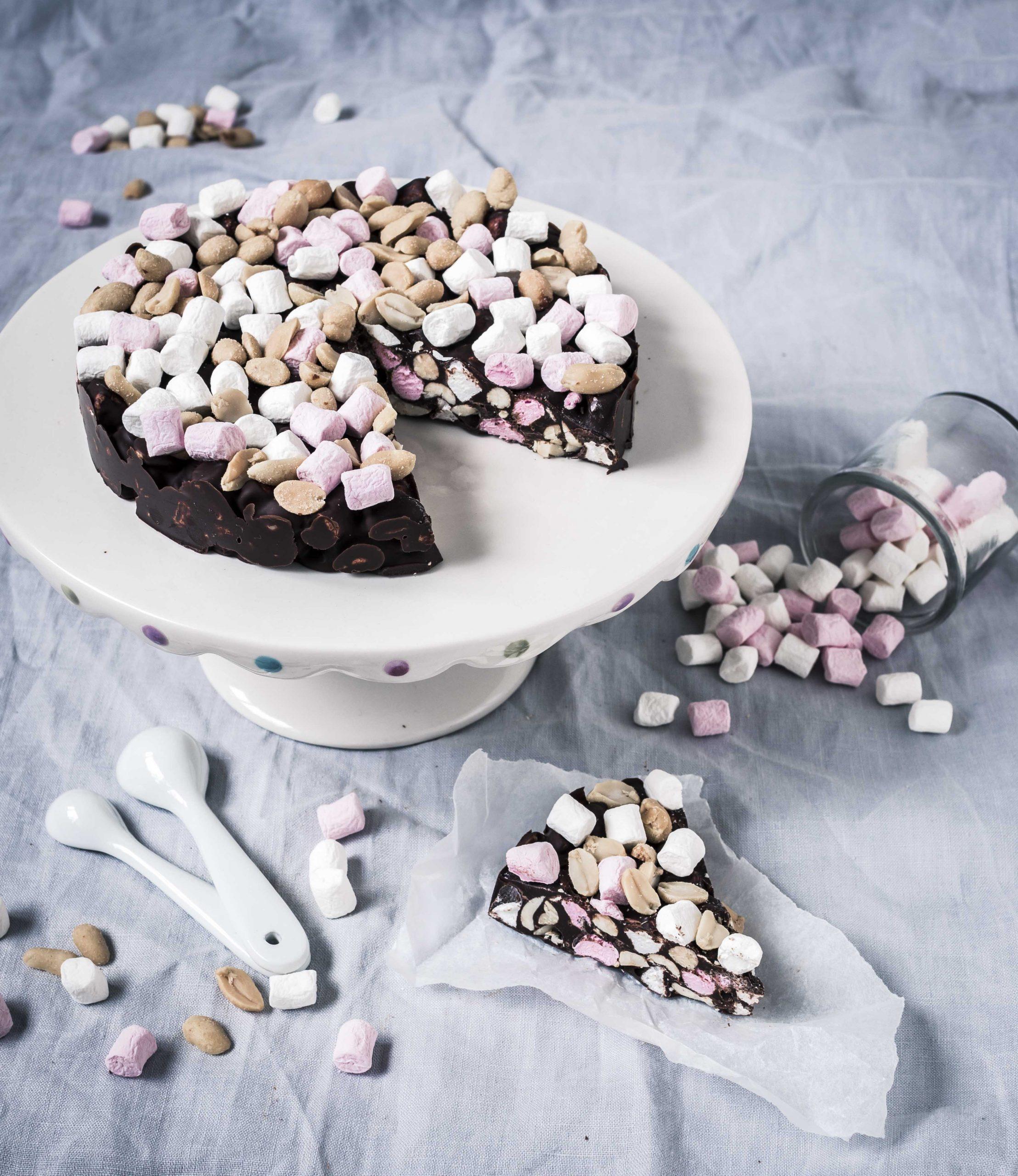 helppo rocky road kakku resepti