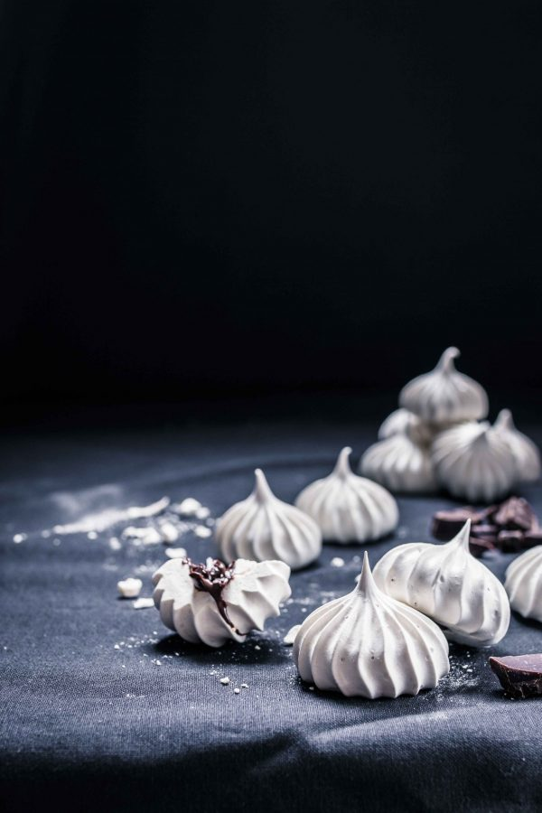 Chocolate filled meringues Emma Ivane