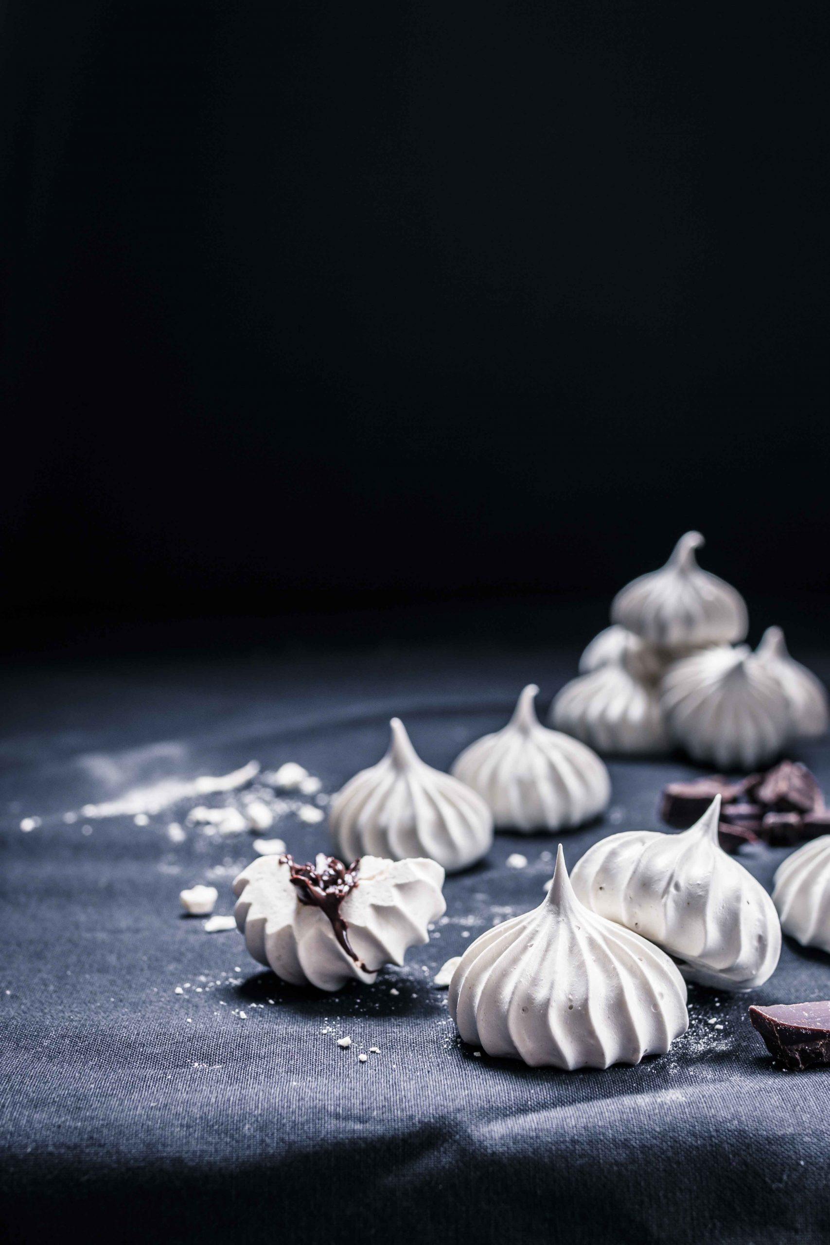 Chocolate filled halloween meringues Emma Ivane