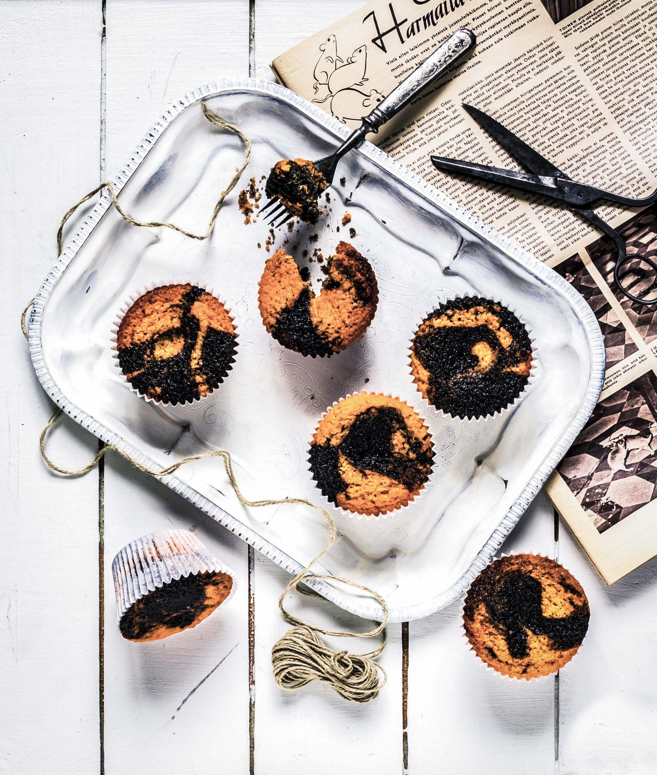 salmiakki-sitruuna muffinssit