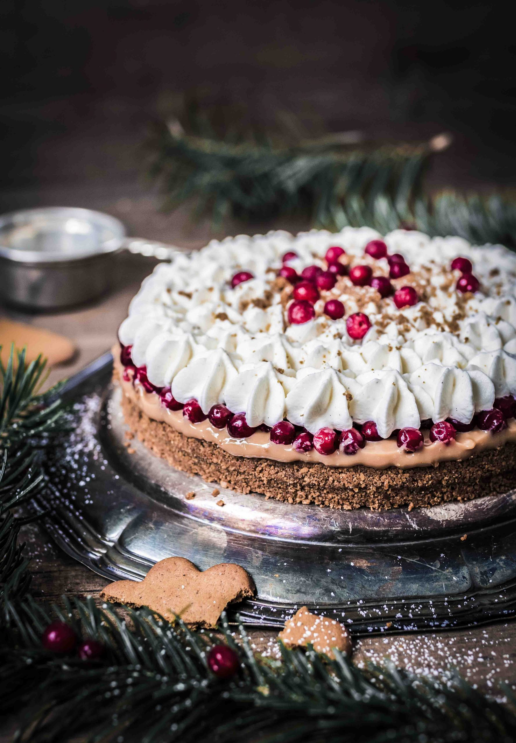 Christmas banoffee with lingonberries - Joulubanoffee puolukoilla