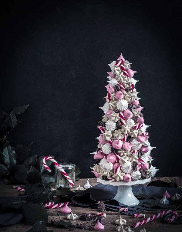 meringue christmas tree - marenkijoulukuusi