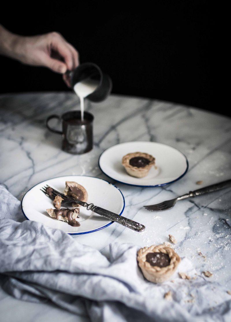 Caramel chocolate pies