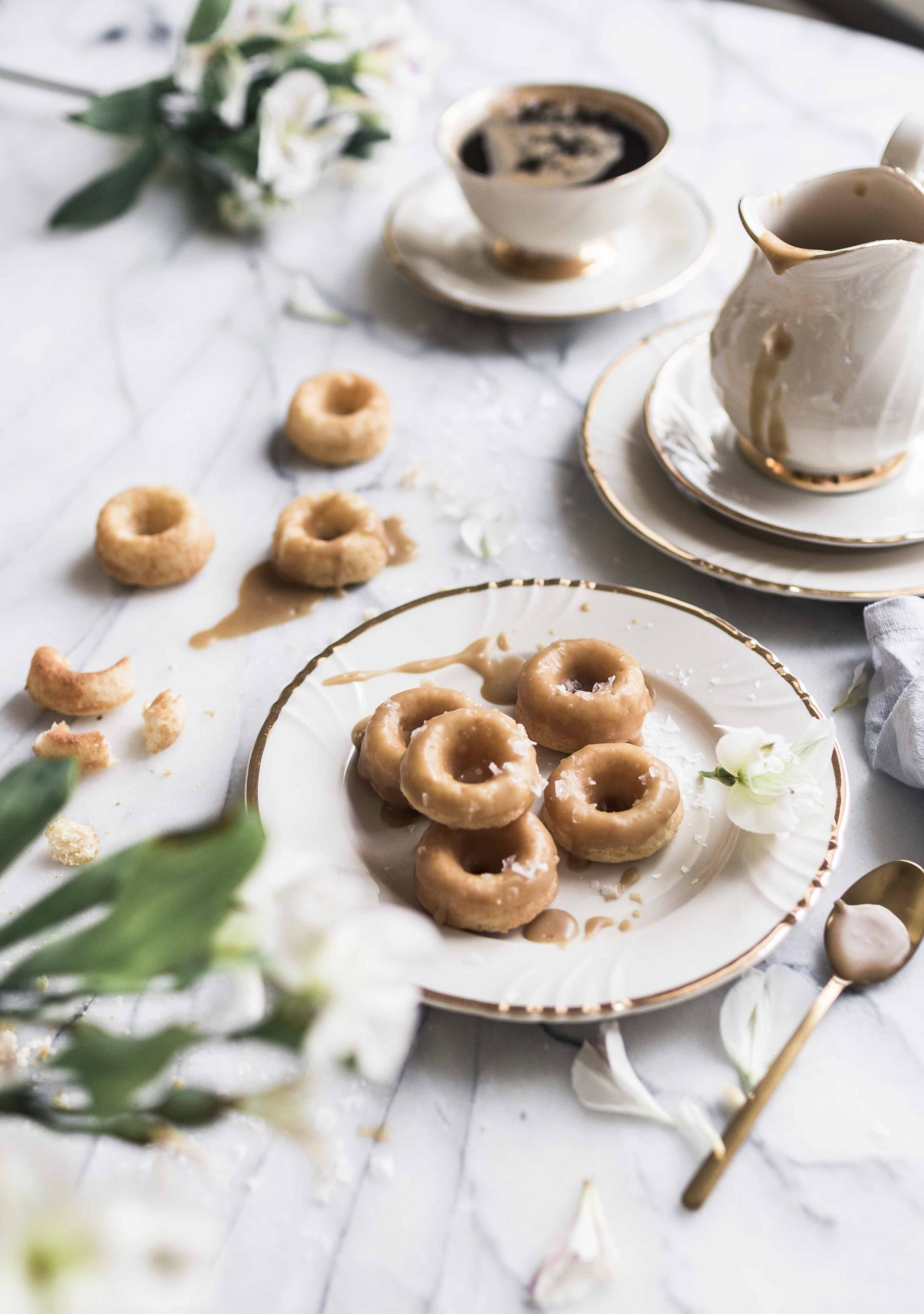 easy salted caramel donuts oven
