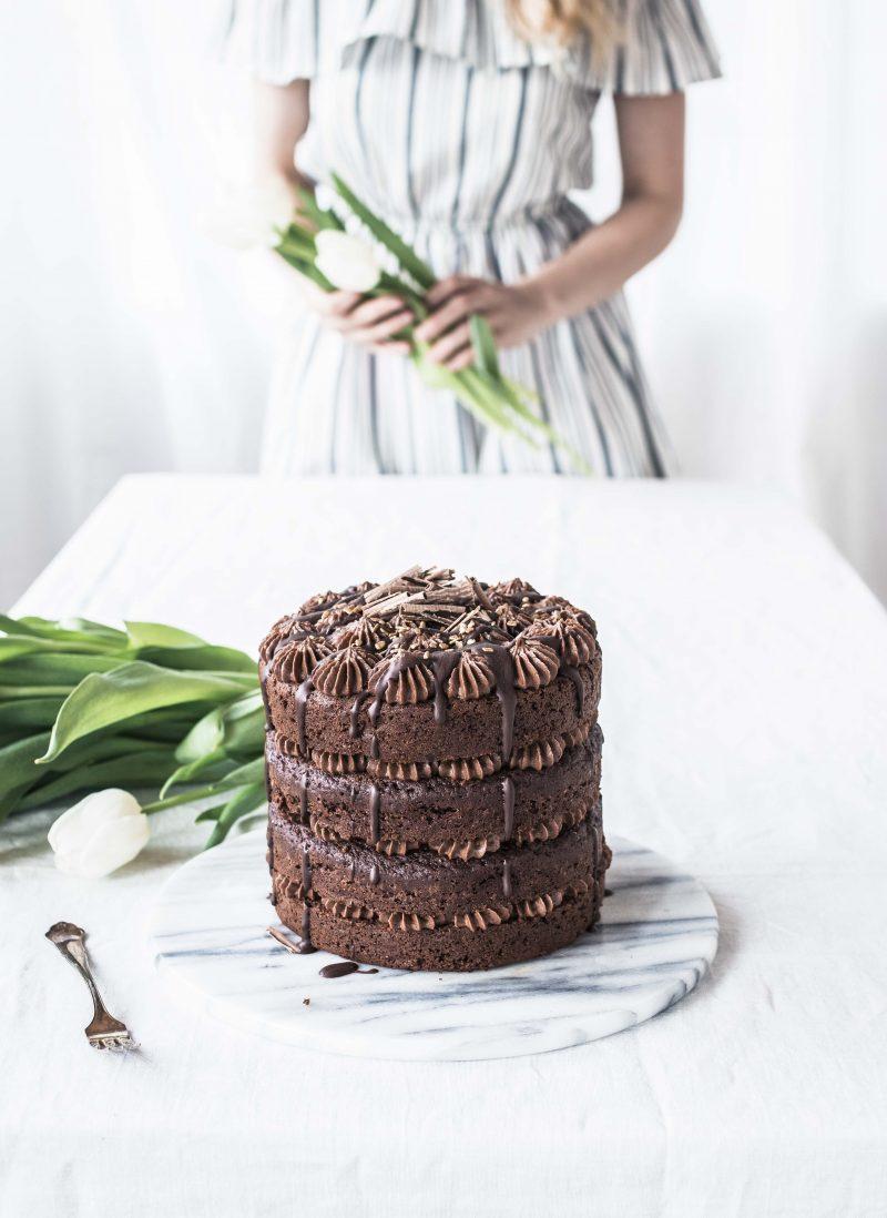 Easy chocolate cake - Helppo suklaakakku