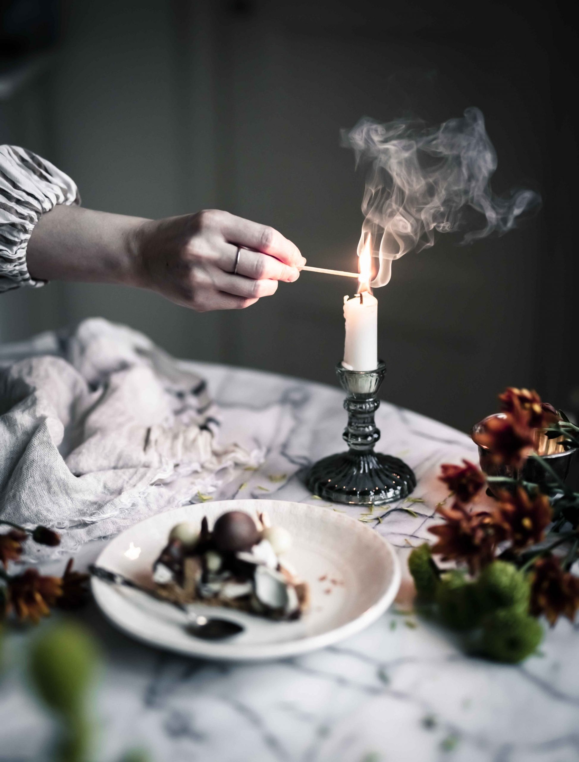 candle photography Emma Ivane food styling