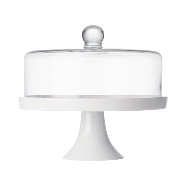 Porcelain Stand with Glass Dome HEIROL