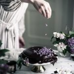 Easy Mocha Cake with Lilacs recipe