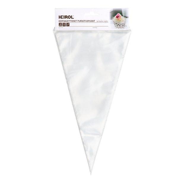 kertakäyttöiset pursotinpussit 35cm 12 kpl heirol