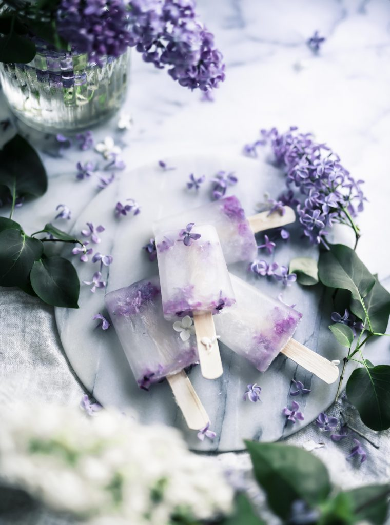 Elderflower and lilacs popsicle recipe