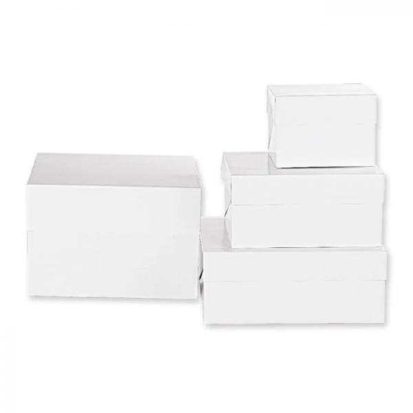 Kakkulaatikko valkoinen 15cm korkea